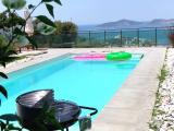 bodrum havaalanı 10 dk müstakil havuzlu pan. manzaralı villa tamamı nakit satılık